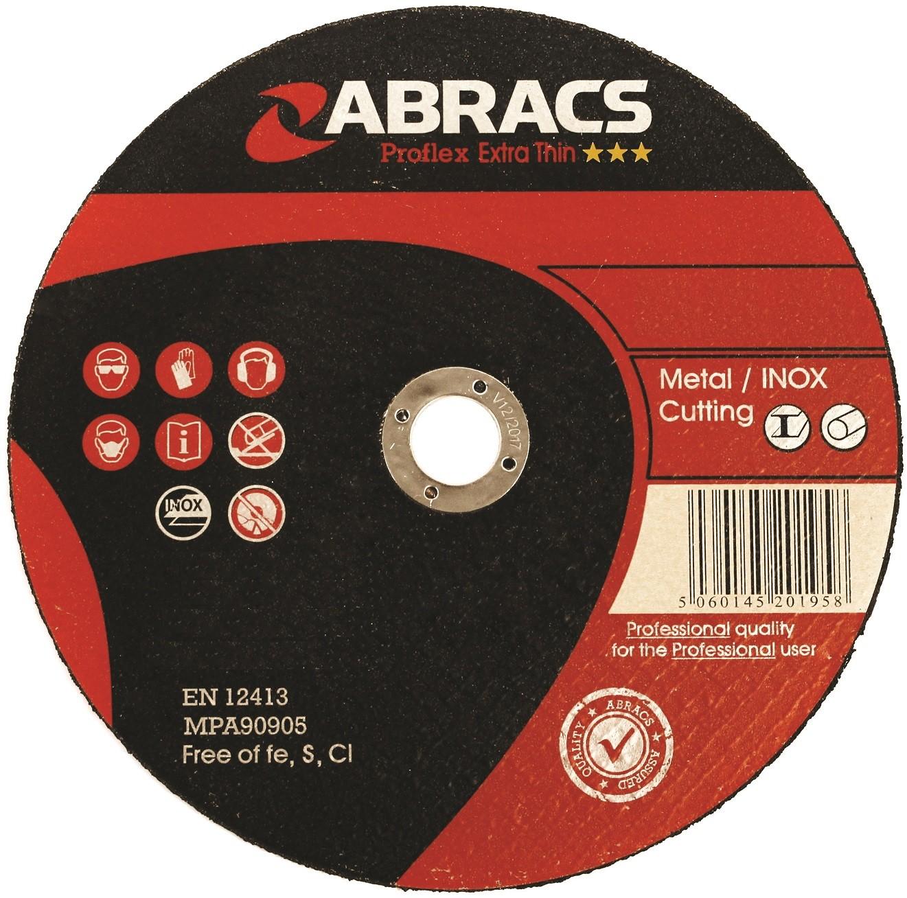 "Extra Thin INOX Cutting Disc 4 1/2"" Abracs 115 x 1.0 x 22mm"