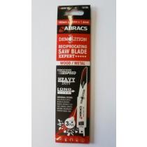 Abracs Demolition Reciprocating Saw Blades 150mm For Wood & Metal RBSDEM150 Expert Range