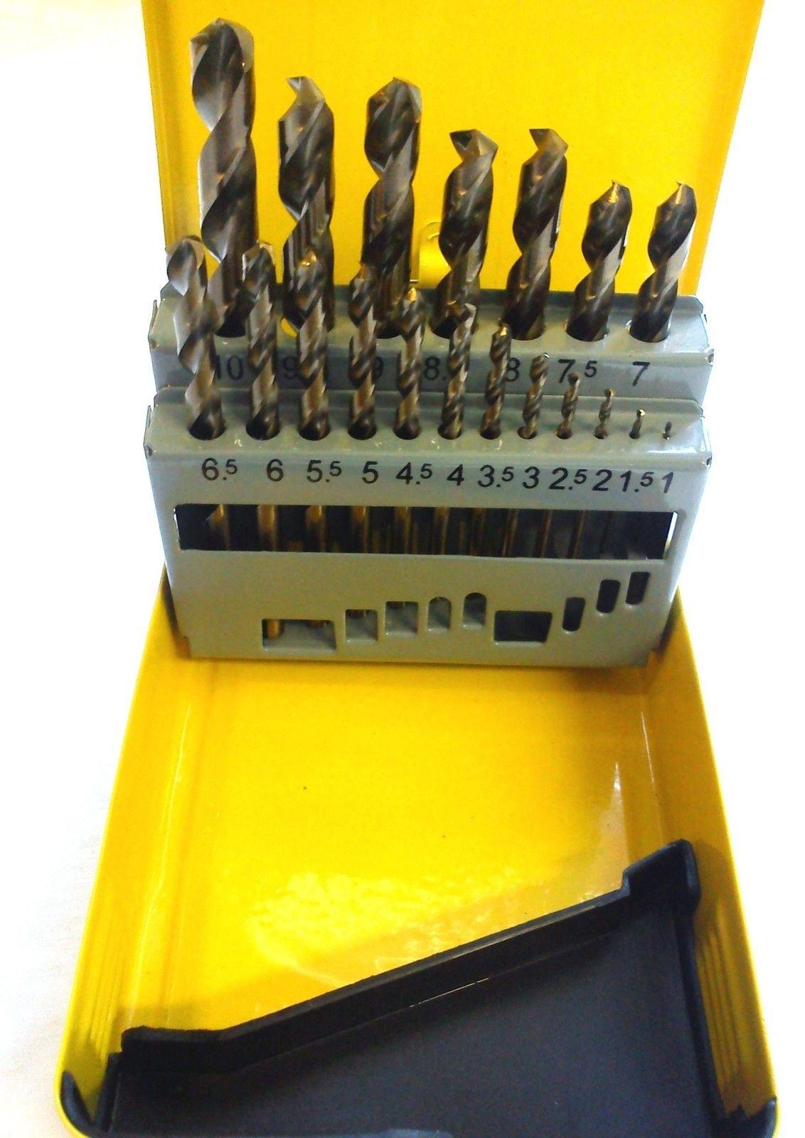 Cobalt Drill Bit Set >> HSS COBALT DRILL SET 19 PIECE ADDAX