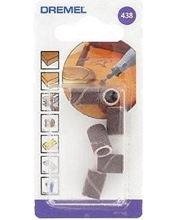 DREMEL 438 SANDING BANDS 120 GRIT 6.4mm PACK OF 6  2615043832