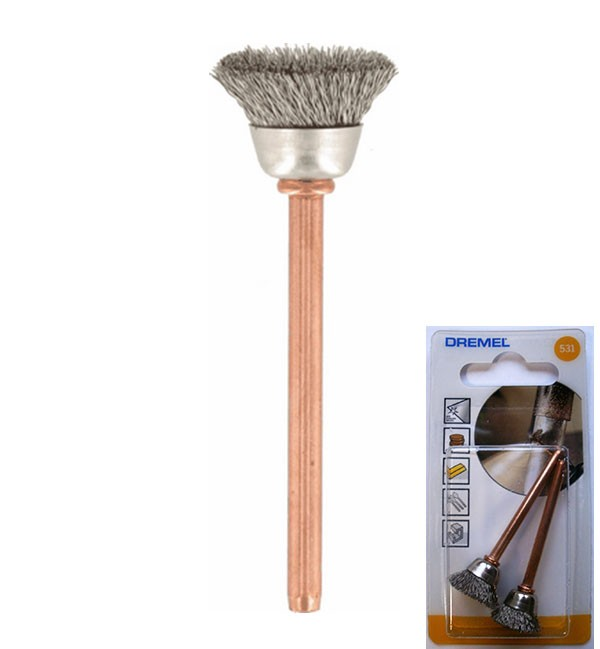 DREMEL STAINLESS STEEL BRUSH 531 PACK 2 CLEANING & POLISHING 13.0mm 26150531JA