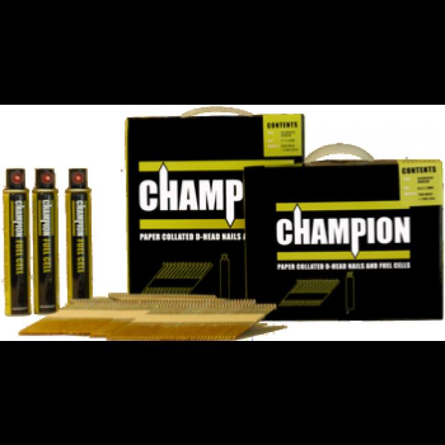 Nail Gun Nails 63 mm Champion Gas Collated Nails