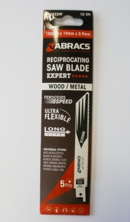 Abracs Reciprocating Saw Blades 150mm For Wood & Metal RBS922HF Expert