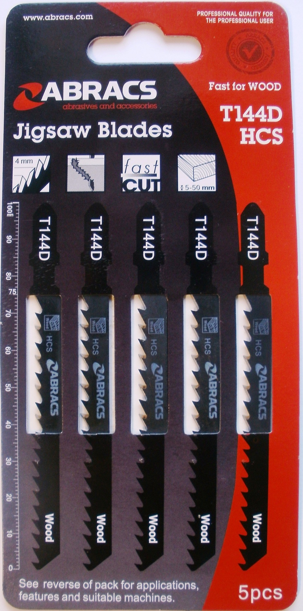 JIGSAW BLADES T144D (PK5) Abracs