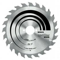 BOSCH CIRCULAR SAW BLADE TCT  190x24Tx30mm 2608640615