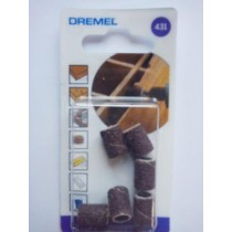 DREMEL 431 SANDING BANDS 60 GRIT 6.4mm PACK OF 6 DREMEL  2615043132