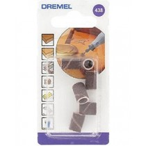 DREMEL 438 SANDING BANDS 120 GRIT 6.4mm PACK OF 6  2615043832