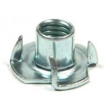 TEE NUTS 4 PRONG NUTS M4 ZINC PLATED T-NUT 4mm