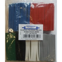 UPVC WINDOWS GLAZING PACKING PIECES (MIXED) PACK 100