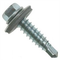 SELF DRILLING HEX HEAD SCREW WITH WASHER 5.5 x 25